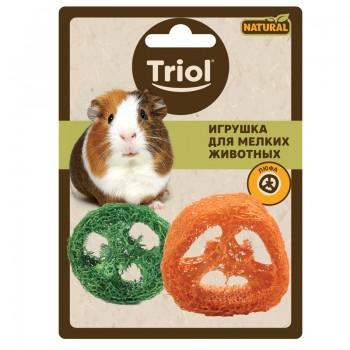 """Triol / Триол Игрушка NATURAL для мелких животных из люфы """"Ломтики"""", d50мм"""
