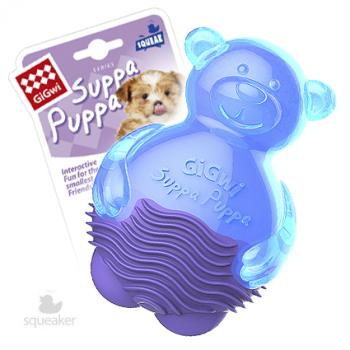 GiGwi / ГиГви Игрушка для маленьких собак Мишка с пищалкой 9 см, серия SUPPA PUPPA