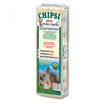 Наполнитель Chipsi Plus Green Apple для грызунов 1кг Древесный ароматизированный