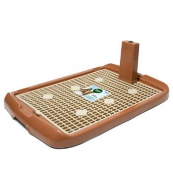 Triol / Триол Туалет PL002 для собак со столбиком, коричневый, 600*400*40мм