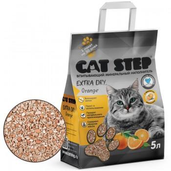 Cat Step / Кэт Степ Наполнитель впитывающий минеральный Extra Dry Orange, 5 л