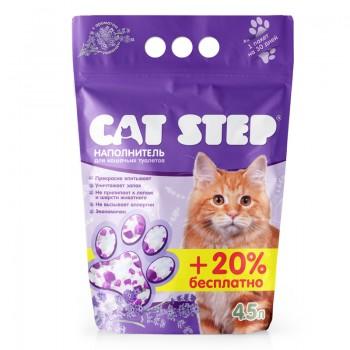 Cat Step / Кэт Степ Наполнитель впитывающий силикагелевый Crystal Lavander, 4,5 л