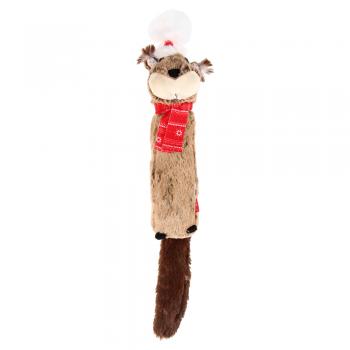 GiGwi / ГиГви Игрушка для собак Белка с большой пищалкой 43 см, серия X-mas TALES