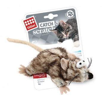 GiGwi / ГиГви Игрушка для кошек Мышка с кошачьей мятой 8 см, серия CATCH & SCRATCH