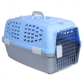 Triol / Триол Переноска SH3662 для животных L, голубая,  600*390*350мм