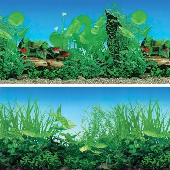 """Laguna / Лагуна Фон 9011/9051, 600*1500мм """"Прибрежные заросли/Зеленый микс"""""""