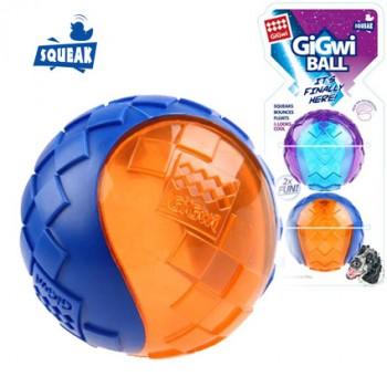 GiGwi / ГиГви Игрушка для собак Два мяча с пищалкой 6 см, серия GiGwi BALL