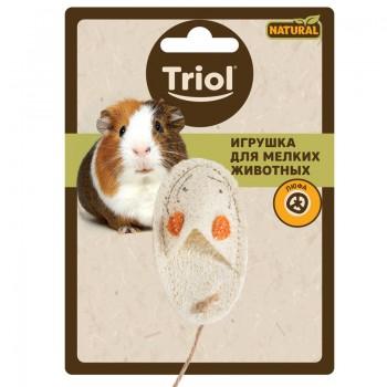 """Triol / Триол Игрушка NATURAL для мелких животных из люфы """"Тапочек"""", 85мм"""
