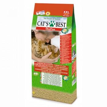 Наполнитель для кошачьих туалетов Cat's Best Original 40л*17,2кг, древесный комкующийся