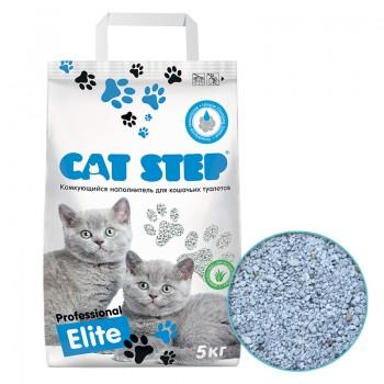 Cat Step / Кэт Степ Наполнитель для кошачьих туалетов Professional Elite с ароматом Алоэ вера 5 кг, комкующийся