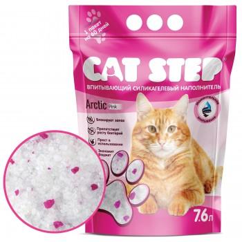Cat Step / Кэт Степ Наполнитель впитывающий силикагелевый Arctic Pink, 7,6 л