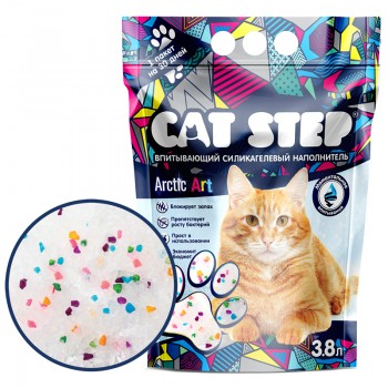Cat Step / Кэт Степ Наполнитель впитывающий силикагелевый Arctic Art, 3,8 л