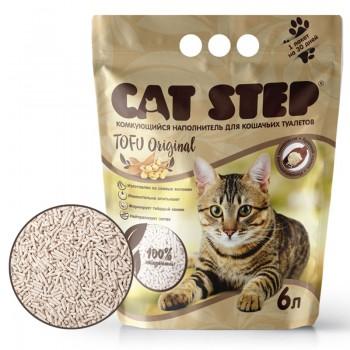 Cat Step / Кэт Степ Наполнитель комкующийся растительный Tofu Original, 6 л