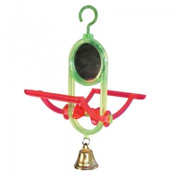 "Triol / Триол Игрушка для птиц - зеркало ""Качели"", 70*150мм"