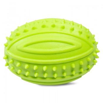 """Triol / Триол Игрушка для собак из резины """"Мяч для регби с шипами"""", 90мм"""