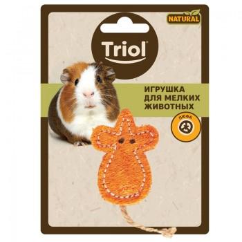"""Triol / Триол Игрушка NATURAL для мелких животных из люфы """"Мышка"""", 60/100мм"""