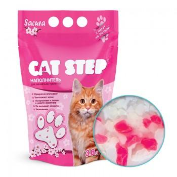 Cat Step / Кэт Степ Наполнитель впитывающий силикагелевый Crystal Sacura, 3,8 л