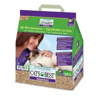 Наполнитель для кошачьих туалетов Cat's Best Nature Gold 10л * 5кг, древесный комкующийся