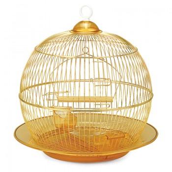 Triol / Триол Клетка 350G для птиц, золото, d350*330мм