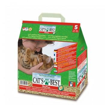 Наполнитель для кошачьих туалетов Cat's Best Original 5л*2,1кг, древесный комкующийся