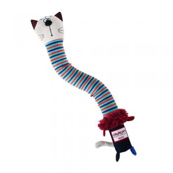 GiGwi / ГиГви Игрушка для собак Кот с хрустящей шеей и пищалкой 28 см, серия CRUNCHY NECK