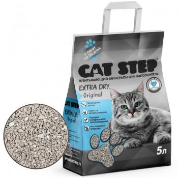 Cat Step / Кэт Степ Наполнитель впитывающий минеральный Extra Dry Original, 5 л