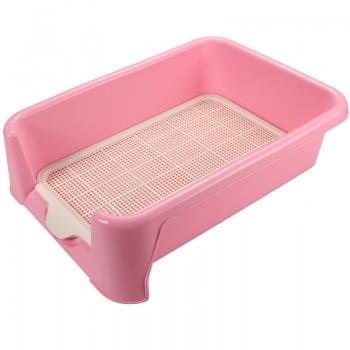 Triol / Триол Туалет P587 для собак (сетка в комплекте), розовый, 400*400*155мм