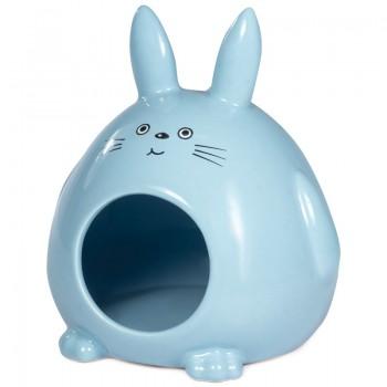 """Triol / Триол Домик для мелких животных керамический """"Кролик"""", 130*115*145мм"""