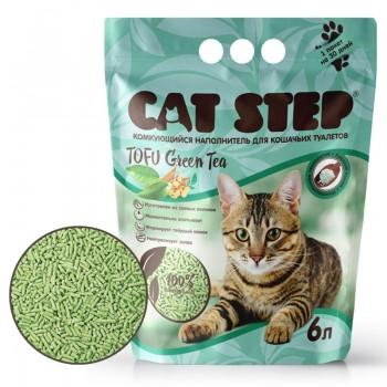 Cat Step / Кэт Степ Наполнитель комкующийся растительный Tofu Green Tea, 6 л