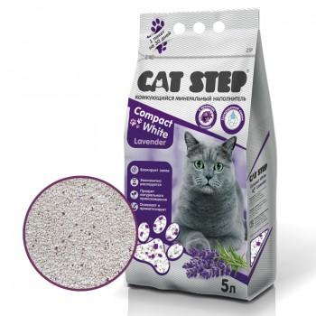 Cat Step / Кэт Степ Комкующийся минеральный наполнитель Compact  White Lavеnder, 5 л