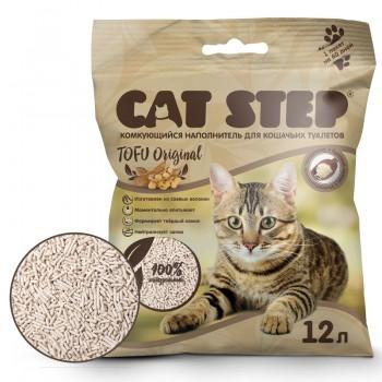 Cat Step / Кэт Степ Наполнитель комкующийся растительный Tofu Original, 12 л