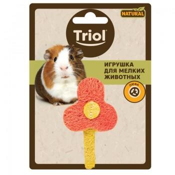 """Triol / Триол Игрушка NATURAL для мелких животных из люфы """"Цветочек"""", 80мм"""