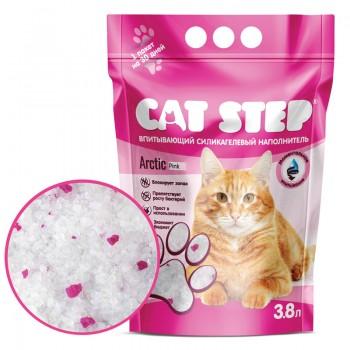Cat Step / Кэт Степ Наполнитель впитывающий силикагелевый Arctic Pink, 3,8 л