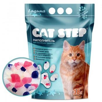 Cat Step / Кэт Степ Наполнитель впитывающий силикагелевый Laguna, 3,8 л