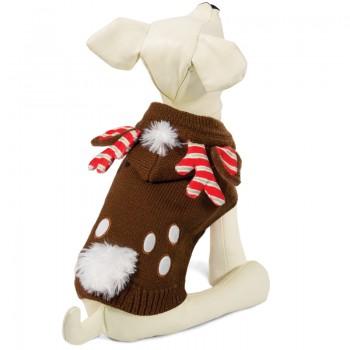 """Triol / Триол Свитер """"Рождественский олень"""" L, коричневый, размер 35см"""