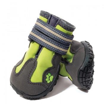 Triol / Триол Ботинки для собак XS, зеленые, 45х35х40мм