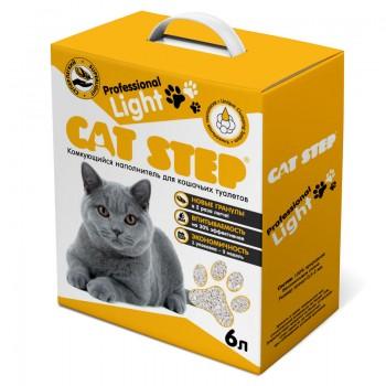 Cat Step / Кэт Степ Наполнитель комкующийся минеральный Professional Light, 6л