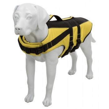 Trixie / Трикси Спасательный жилет для собак, XL: 65 см/60–96 см, до 45 кг, жёлтый/чёрный