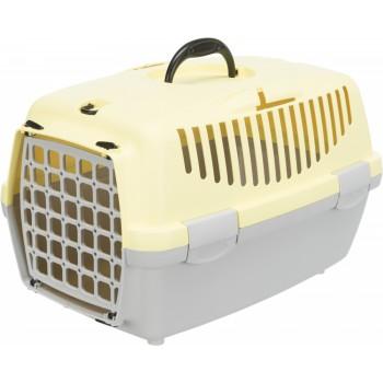 Trixie / Трикси Транспортный бокс Capri 1, XS: 32 х 31 х 48 см, светло-серый / желтый