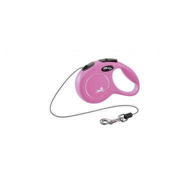 Flexi / Флекси Рулетка NEW CLASSIC XS трос 3 м до 8 кг, розовый