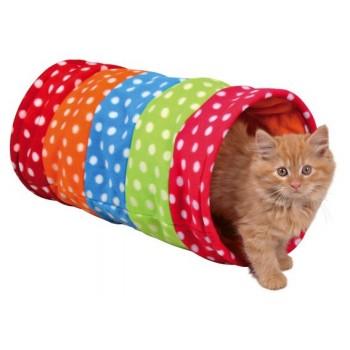 Trixie / Трикси Тоннель для кошки, 25х50 см, горошек, флис