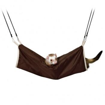 Trixie / Трикси Тоннель для грызунов подвесной, 20х45 см, нейлон/искуственный мех, коричн./бежевый