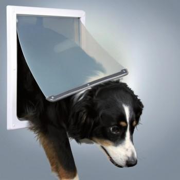 Trixie / Трикси Дверца для собак, 2 положения, 30,8х38 см, пластик, белый