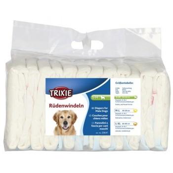 Trixie / Трикси Подгузники для кобелей, S–M: 30–46 см, 12 шт.