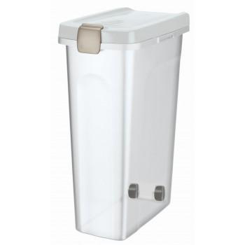 Trixie / Трикси Контейнер для корма, 40 л/27 х 61 х 45 см, прозрачно-белый / белый