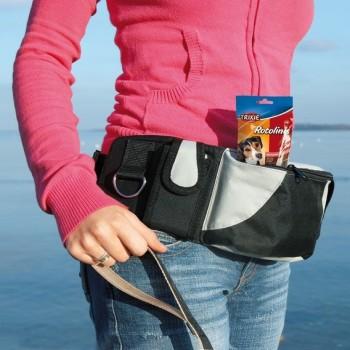 Trixie / Трикси Сумка на пояс Baggy Belt, ремень 62–125 см, чёрный/серый