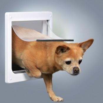 Trixie / Трикси Дверца для кошек/собак, 2 положения, 20х21 см, пластик, белый
