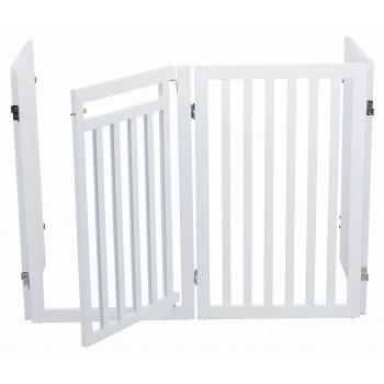 Trixie / Трикси Барьер-перегородка с дверцей, 60–160 х 81 cм, белый