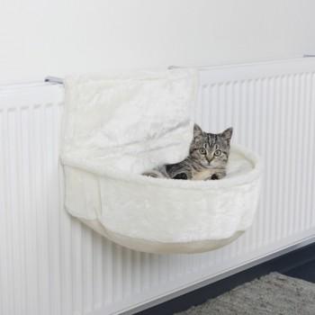 Trixie / Трикси Лежак-гамак подвесной на радиатор, плюш, 45 х 13 х 33 см, белый