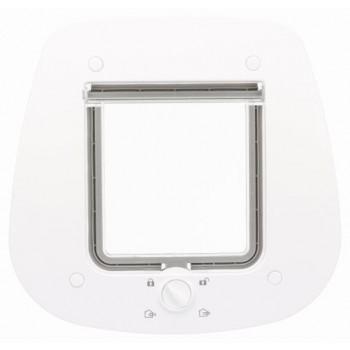 Trixie / Трикси Дверца для кошки 4-Way для стеклянных дверей, 27 х 26 см, серый